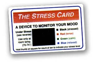 Mood cards help control stress